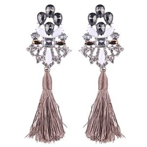 Jewelry - BNWOT 🌺🥂Tassel Statement frío dangle  Earrings.